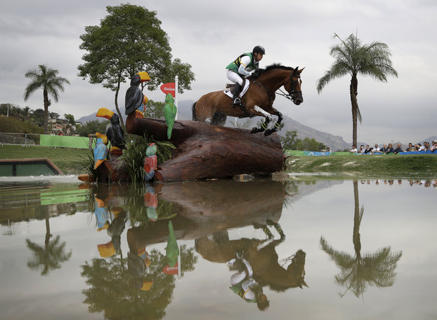 Sam Griffiths, of Australia, competes on Paulank Brockagh in the equestrian eventing cross country phase at the 2016 Summer Olympics in Rio de Janeiro, Brazil, Monday, August 8, 2016. (Photo by John Locher/AP Photo)