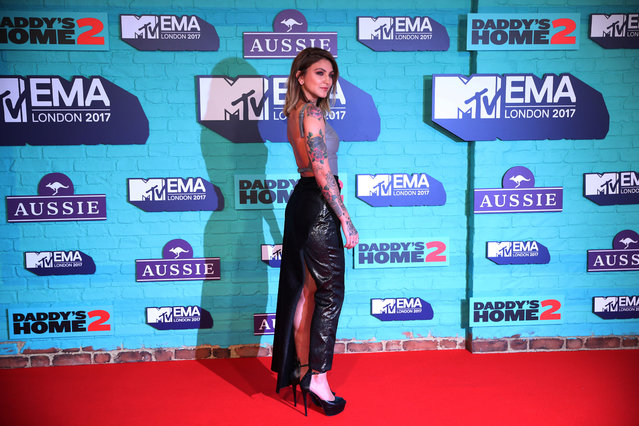 Singer Julia Michaels arrives at the 2017 MTV Europe Music Awards at Wembley Arena in London, Britain, November 12, 2017. (Photo by Hannah McKay/Reuters)