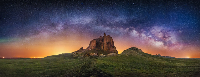 Shiprock in New Mexico. (Photo by Wayne Pinkston/Caters News)