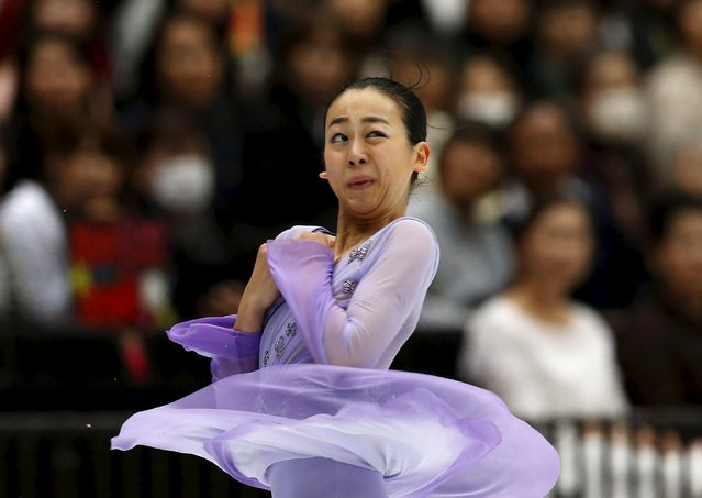 Mao Asada of team Japan competes during the Japan Open Figure Skating Team Competition in Saitama, Japan, October 3, 2015. (Photo by Yuya Shino/Reuters)