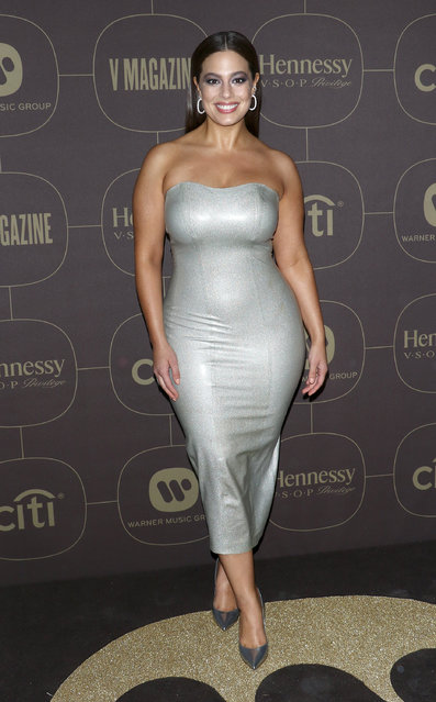Model Ashley Graham attends the 2018 Warner Music Group Pre- Grammy Celebration at The Grill & The Pool Restaurants on January 25, 2018 in New York City. (Photo by Jim Spellman/WireImage)