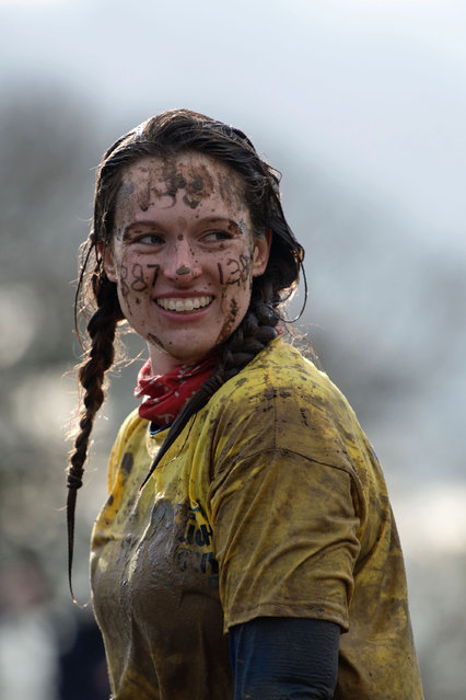 A competitor participates in the Tough Guy endurance event near Wolverhampton, central England, on February 4, 2018. (Photo by Oli Scarff/AFP Photo)