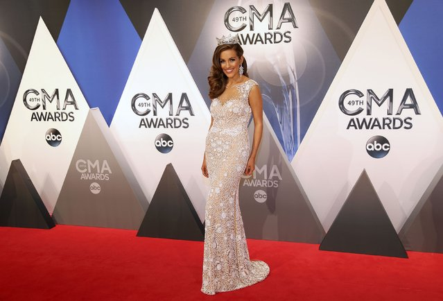 Miss America Betty Cantrell arrives at the 49th Annual Country Music Association Awards in Nashville, Tennessee November 4, 2015. (Photo by Jamie Gilliam/Reuters)