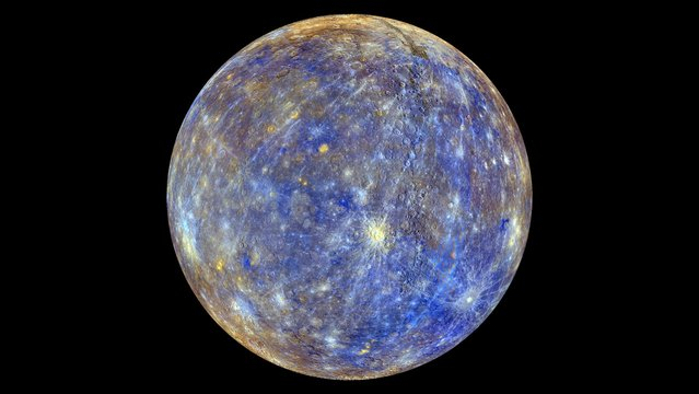 Mercury is pictured in this undated NASA handout photo obtained by Reuters February 22, 2013. (Photo by Reuters/NASA/Johns Hopkins University Applied Physics Laboratory/Carnegie Institution of Washington)