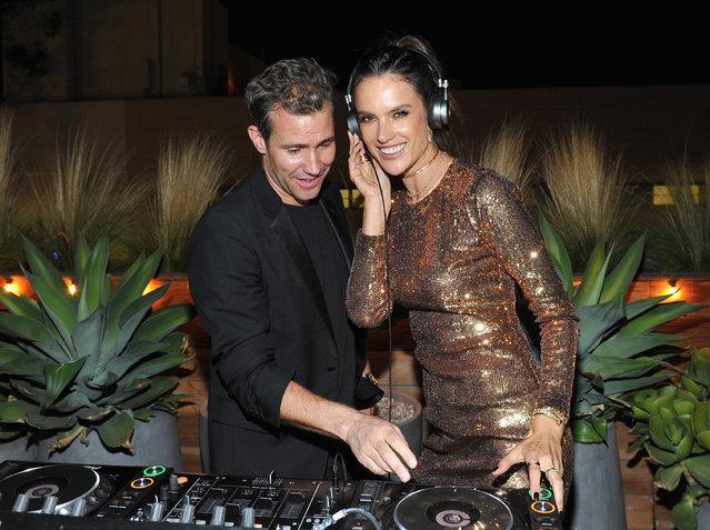 DJ Zen (L) and Designer/model Alessandra Ambrosio attend Ale by Alessandra X REVOLVE at Revolve Social Club on October 19, 2016 in Los Angeles, California. (Photo by Donato Sardella/Getty Images for REVOLVE)