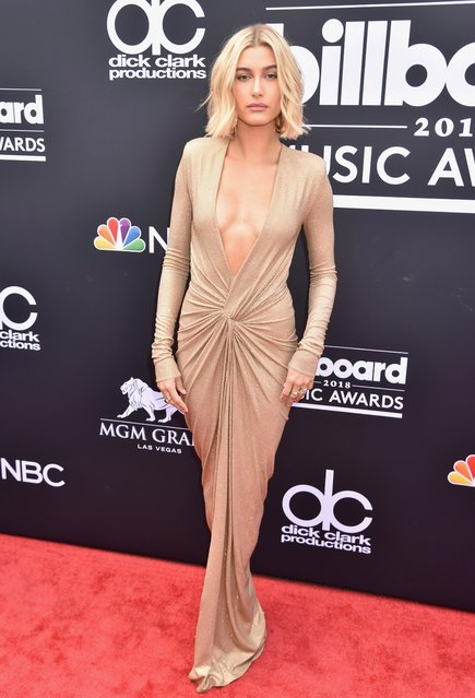TV personality-model Hailey Baldwin attends the 2018 Billboard Music Awards at MGM Grand Garden Arena on May 20, 2018 in Las Vegas, Nevada. (Photo by Jeff Kravitz/FilmMagic)
