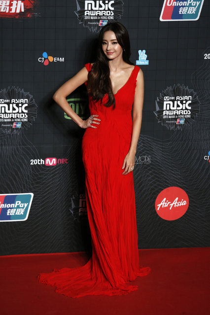 South Korean actress Ha Chea-young poses on the red carpet during 2015 Mnet Asian Music Awards (MAMA) in Hong Kong, China, December 2, 2015. (Photo by Bobby Yip/Reuters)