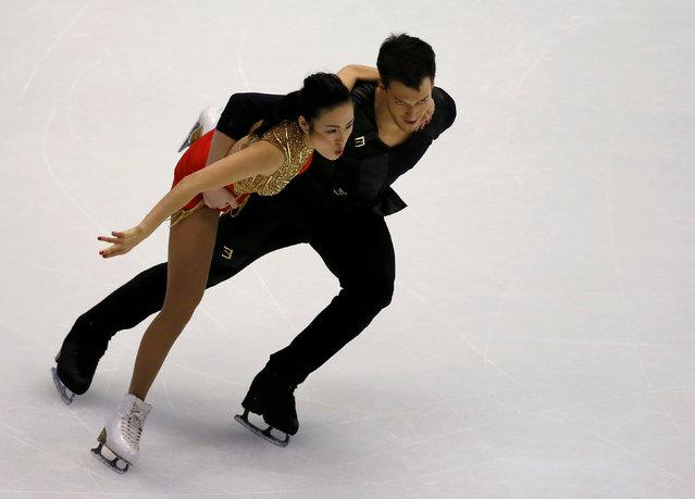 Figure Skating, ISU Grand Prix of Figure Skating NHK Trophy 2016/2017, Ice Dance Free Dance, Sapporo, Japan on November 27, 2016. Emi Hirai and Marien de La Asuncion of Japan compete. (Photo by Issei Kato/Reuters)