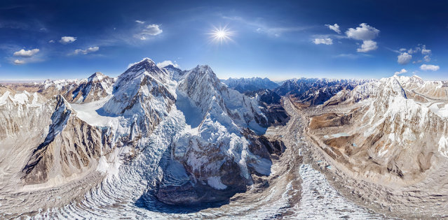 Mount Everest. (Photo by Airpano/Caters News)