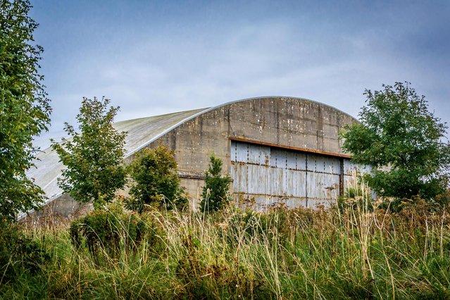 A hangar at the former RAF Llandow in South Wales. (Photo by MediaDrumWorld.com)