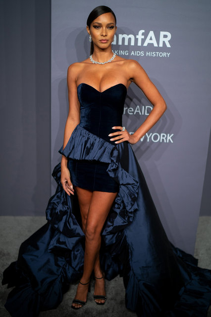 Lais Ribeiro attends the 2019 amfAR New York Gala at Cipriani Wall Street on February 06, 2019 in New York City. (Photo by Michael Stewart/FilmMagic)