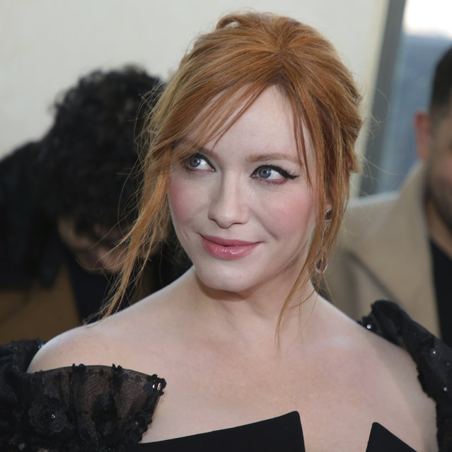 Actress Christina Hendricks attends the Christian Siriano Runway Show held at Top of the Rock at Rockefeller Center during New York Fashion Week on Saturday, February 9, 2019 in New York. (Photo by Brent N. Clarke/Invision/AP Photo)
