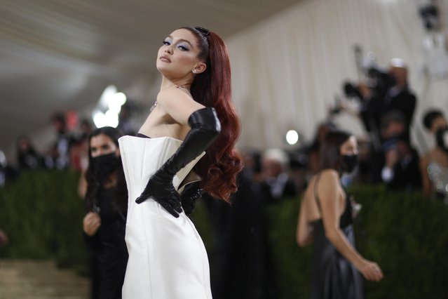 Gigi Hadid attends The 2021 Met Gala Celebrating In America: A Lexicon Of Fashion at Metropolitan Museum of Art on September 13, 2021 in New York City. (Photo by Mario Anzuoni/Reuters)