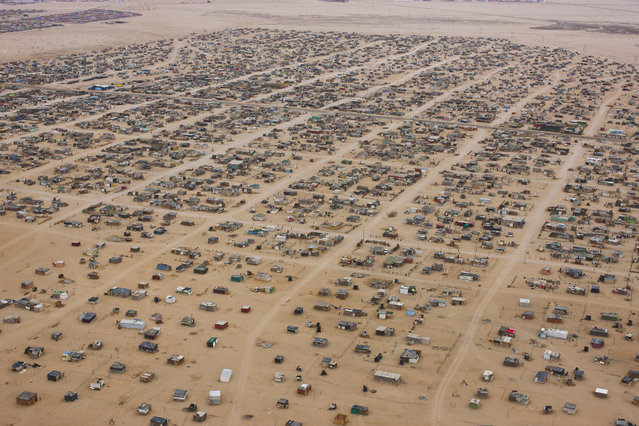 A township pictured near Swakopmund, in October, 2014, in the Namib Desert, Namibia. (Photo by Theo Allofs/Barcroft Media)
