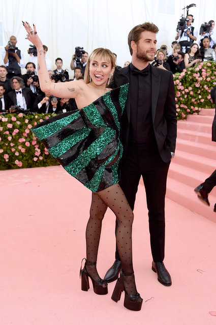 Miley Cyrus and Liam Hemsworth attend The 2019 Met Gala Celebrating Camp: Notes on Fashion at Metropolitan Museum of Art on May 06, 2019 in New York City. (Photo by Jamie McCarthy/Getty Images)