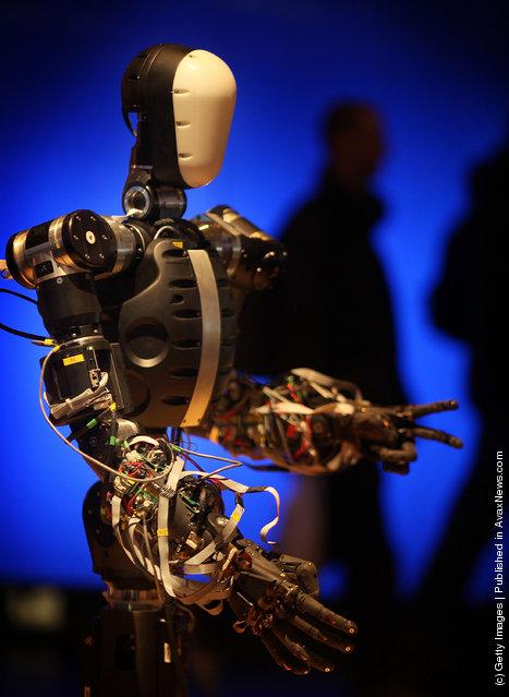 Life-size humanoid robot BERTI (Bristol EluMotion Robotic Torso number 1 or RT-1)