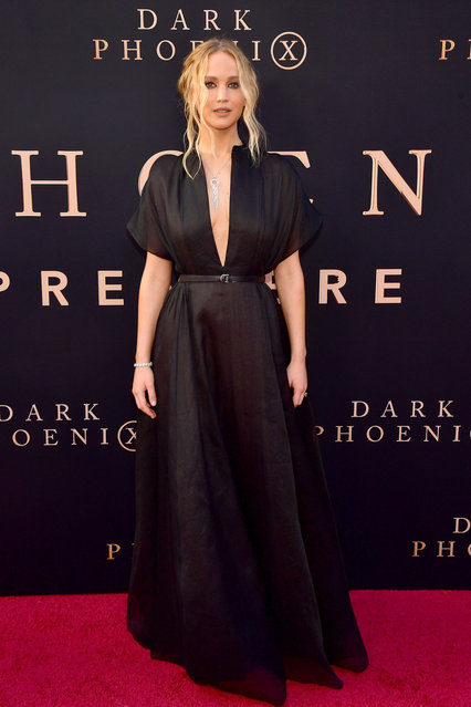 """Jennifer Lawrence attends the premiere of 20th Century Fox's """"Dark Phoenix"""" at TCL Chinese Theatre on June 04, 2019 in Hollywood, California. (Photo by Matt Winkelmeyer/Getty Images)"""