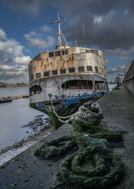 """""""Fate of the Mersey Ferry"""", by Amanda Burgess, which has won the Ships and Wrecks category. (Photo by Amanda Burgess/PA Wire Press Association)"""