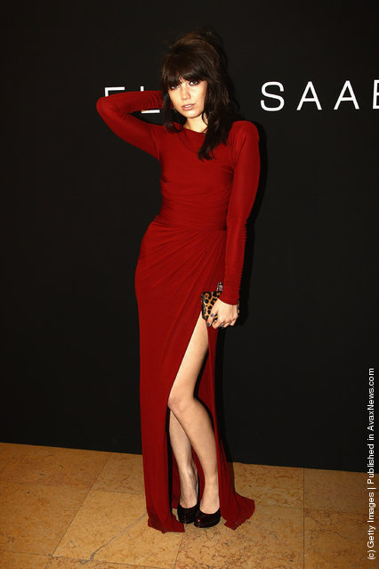 Daisy Lowe attends the Elie Saab Haute Couture Fall/Winter 2011/2012 show as part of Paris Fashion Week at Palais de Chaillot