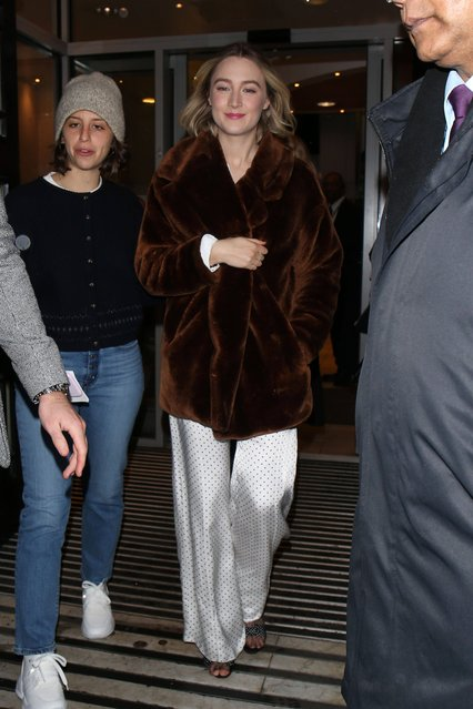 Saoirse Ronan out and about, at BBC Radio 2 in London, England on December 17, 2019. (Photo by Beretta/Sims/SIPA Press/Rex Features/Shutterstock)
