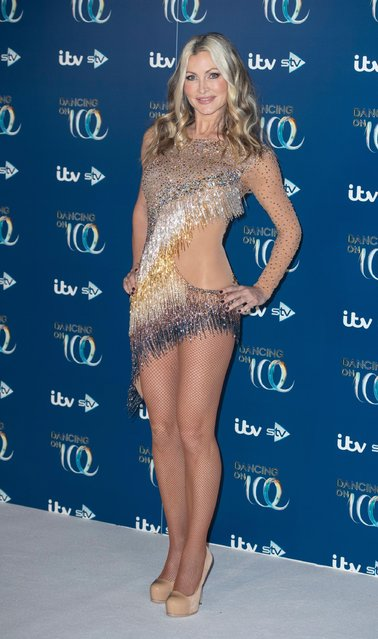 Caprice Bourret attends the Dancing On Ice 2019 photocall at the Dancing On Ice Studio, ITV Studios, Old Bovingdon Airfield on December 09, 2019 in Bovingdon, England. (Photo by Alamy Live News)