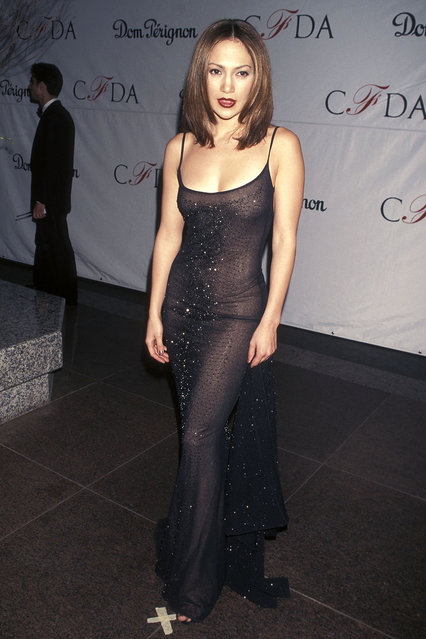 Actress Jennifer Lopez attends the 17th Annual CFDA Awards on February 8, 1998 at JP Morgan Atrium in New York City. (photo by Ron Galella, Ltd./WireImage)