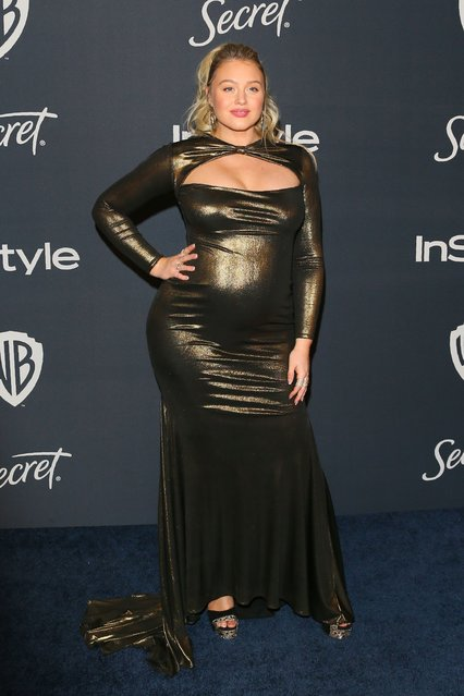 Model Iskra Lawrence attends the 21st Annual InStyle And Warner Bros. Pictures Golden Globe After-Party in Beverly Hills, California on January 5, 2020. (Photo by Jean-Baptiste Lacroix/AFP Photo)