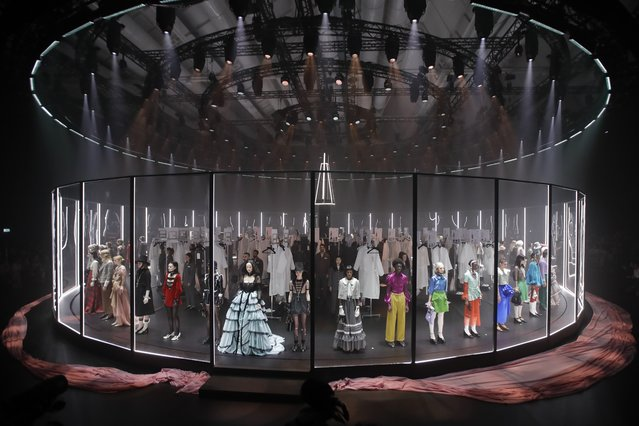 Models wear creations as part of Gucci's Fall/Winter 2020/2021 collection, presented in Milan, Italy, Wednesday, Febryary 19, 2020. (Photo by Luca Bruno/AP Photo)