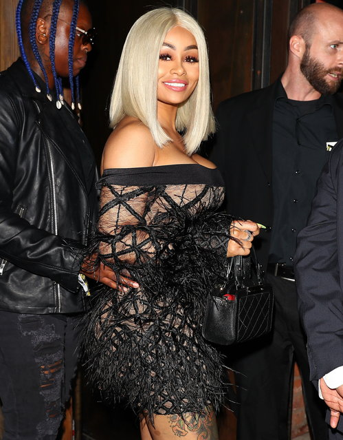 Blac Chyna seen arriving outside the Ace Of Diamonds night club in Los Angeles, California on August 22, 2017. (Photo by Pap Nation/Splash News and Pictures)