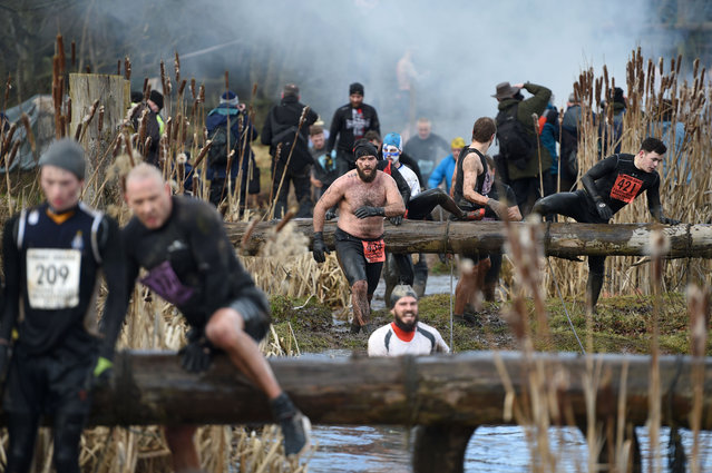 Competitors participate in the Tough Guy endurance event near Wolverhampton, central England, on February 4, 2018. (Photo by Oli Scarff/AFP Photo)