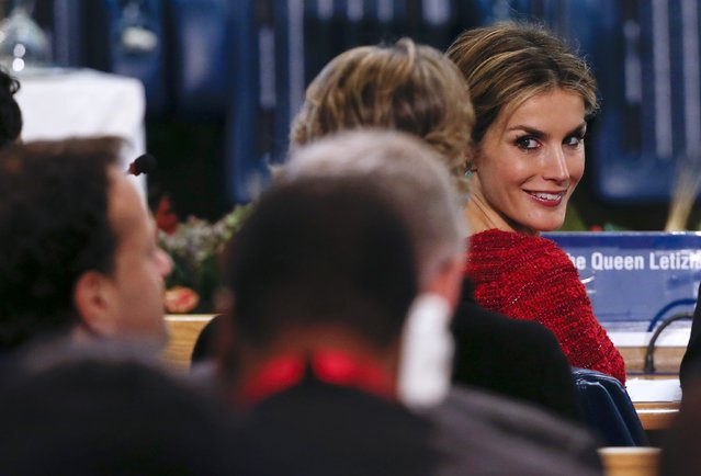 Spain's Queen Letizia attends a meeting at the United Nations' Food and Agriculture Organisation (FAO) headquarters in Rome November 20, 2014. (Photo by Alessandro Bianchi/Reuters)