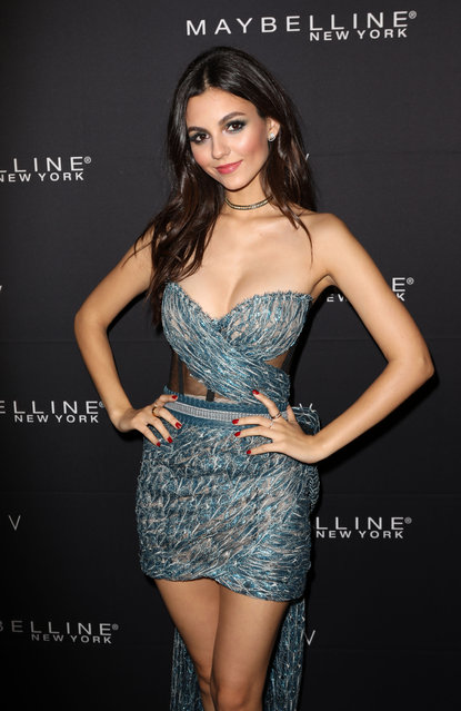 Victoria Justice at the Maybelline New York x V Magazine Party in NYC on February 11, 2018. (Photo by Richard Buxo/Splash News and Pictures)