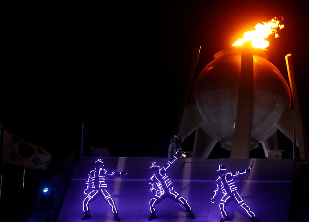 Artists perform during the closing ceremony of the PyeongChang Winter Olympic Games at the Olympic Stadium in Pyeongchang, South Korea, on February 25, 2018. (Photo by Kai Pfaffenbach/Reuters)