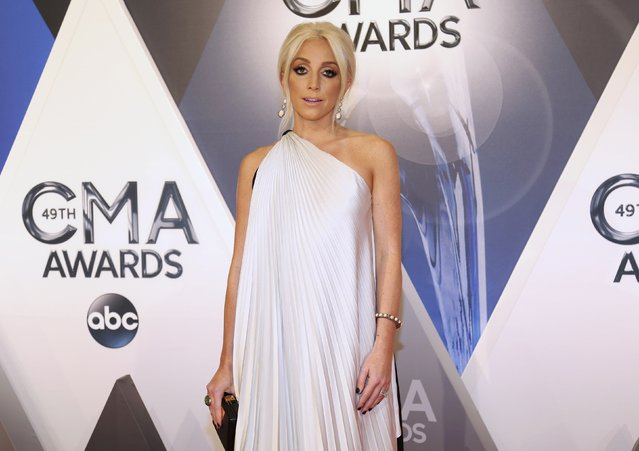 Singer Ashley Monroe arrives at the 49th Annual Country Music Association Awards in Nashville, Tennessee November 4, 2015. (Photo by Jamie Gilliam/Reuters)