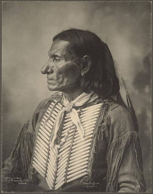 Pablino Diaz, Kiowa, 1899. (Photo by Frank A. Rinehart)