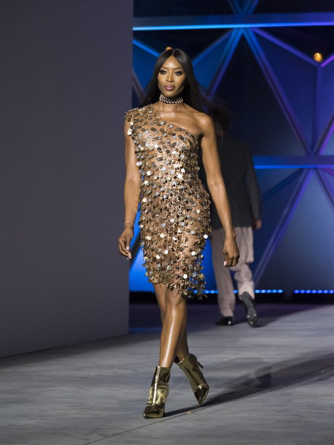 Naomi Campbell walks the runway at Fashion For Relief show during the 71st annual Cannes Film Festival at Aeroport Cannes Mandelieu in Cannes, France, 13 May 2018. (Photo by Arnold Jerocki/EPA/EFE)
