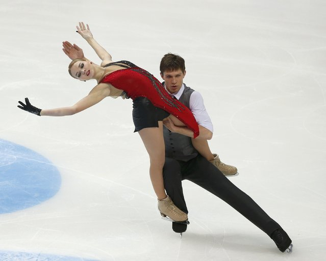 Figure Skating, ISU Grand Prix Rostelecom Cup 2016/2017, Ice Dance Free Dance in Moscow, Russia on November 5, 2016. Viktoria Kavaliova and Yurii Bieliaiev of Belarus compete. (Photo by Grigory Dukor/Reuters)