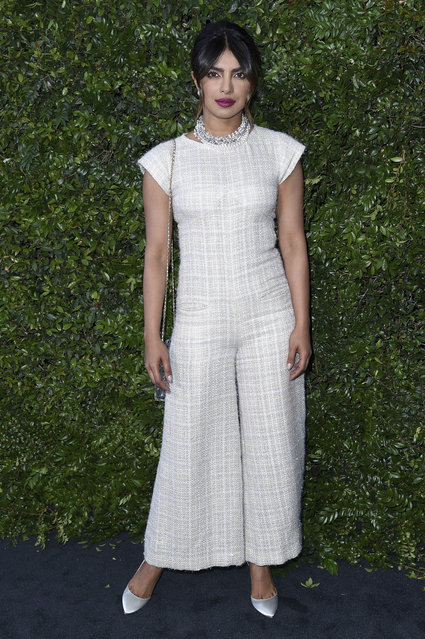 Priyanka Chopra attends Chanel and NRDC Host Dinner to Celebrate Our Majestic Oceans on Saturday, June 2, 2018, in Malibu, Calif. (Photo by Richard Shotwell/Invision/AP Photo)