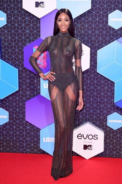 Jourdan Dunn poses for photographers upon arrival at the MTV European Music Awards 2016 in Rotterdam, Netherlands, Sunday, November 6, 2016. (Photo by PA Wire)