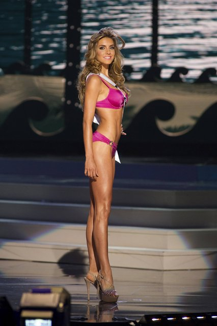 Valentina Ferrer, Miss Argentina 2014, competes in the swimwear competition during the Miss Universe Preliminary Show in Miami, Florida in this January 21, 2014 handout photo. (Photo by Reuters/Miss Universe Organization)