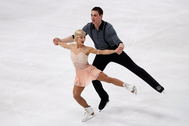 Figure Skating, ISU Grand Prix of Figure Skating Trophee de France 2016/2017, Pairs Short Program, Paris, France on November 11, 2016. Aliona Savchenko and Bruno Massot of Germany compete. (Photo by Charles Platiau/Reuters)