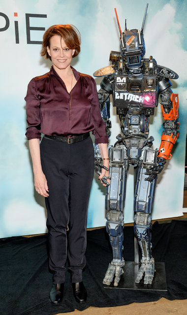 """Actress Sigourney Weaver attends Columbia Pictures' """"Chappie"""" cast photo call at the Crosby Street Hotel on Tuesday, February 10, 2015, in New York. (Photo by Evan Agostini/Invision/AP Photo)"""