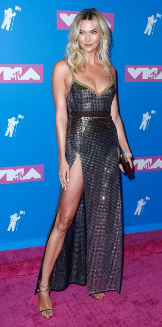 US model Karlie Kloss arrives on the red carpet for the 2018 MTV Video Music Awards at Radio City Music Hall in New York, New York, USA, 20 August 2018. (Photo by Jason Szenes/EPA/EFE/Rex Features/Shutterstock)