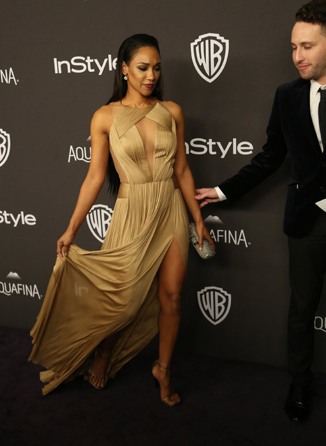 Actress Candice Patton attends the 17th Annual Instyle and Warner Bros. Pictures Golden Globes After Party in Beverly Hills, California January 10, 2016. (Photo by David McNew/Reuters)