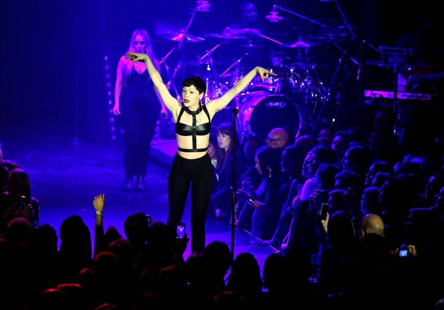 Jessie J performs during the Capital Rocks charity evening held at The Roundhouse, Camden, London, on November 28, 2013. (Photo by Chris Radburn/PA Wire)