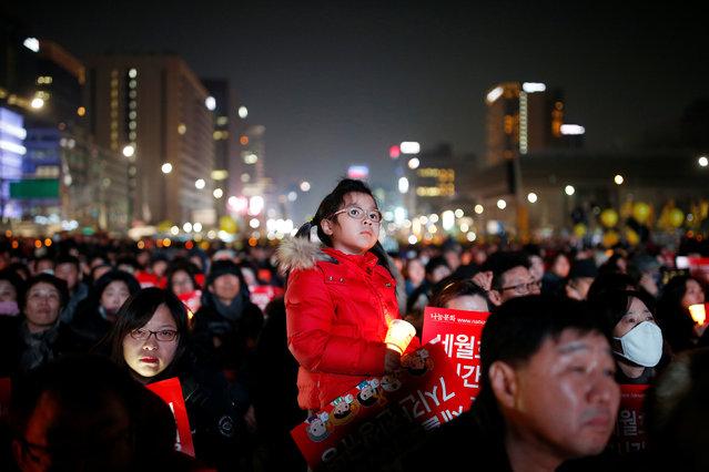 People attend a protest demanding South Korean President Park Geun-hye's resignation in Seoul, South Korea, January 7, 2017. (Photo by Kim Hong-Ji/Reuters)