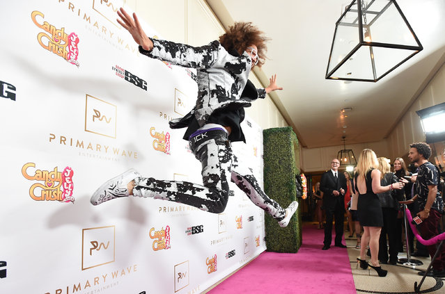 Redfoo arrives at the Candy Crush Jelly Saga – Primary Wave Pre-Grammy Party at The London Hotel on Sunday, February 14, 2016, in Los Angeles. (Photo by Jordan Strauss/Invision for Ketchum (New York)/AP Images)