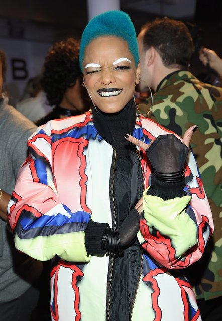 Recording artist Sharaya J attends The Blonds fashion show during Fall 2016 MADE Fashion Week at Milk Studios on February 17, 2016 in New York City. (Photo by Monica Schipper/Getty Images)