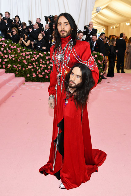 Jared Leto attends The 2019 Met Gala Celebrating Camp: Notes on Fashion at Metropolitan Museum of Art on May 06, 2019 in New York City. (Photo by Dimitrios Kambouris/Getty Images for The Met Museum/Vogue)