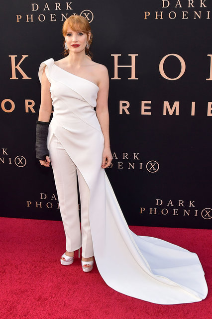 """Jessica Chastain attends the premiere of 20th Century Fox's """"Dark Phoenix"""" at TCL Chinese Theatre on June 04, 2019 in Hollywood, California. (Photo by Matt Winkelmeyer/Getty Images)"""